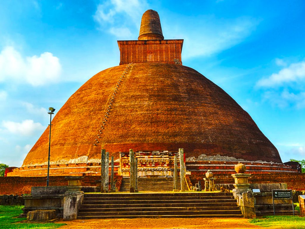 The sacred city of Anuradhapura was the first capital of Sri Lanka. Today this city hosts a massive collection of Buddhist monuments and artifacts that date back to 7th century BCE. The city was abandoned around 1300 CE. It makes a treasure trove of artifacts and ruins. It is also a UNESCO world heritage site.